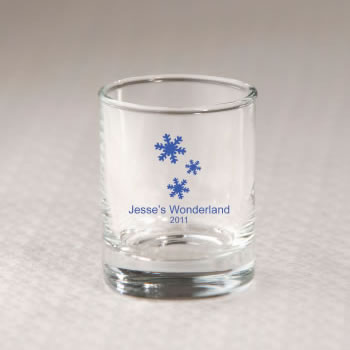 Winter wedding favors winter wedding snowflake wedding winter wedding shot glasses love laughter and happily ever after