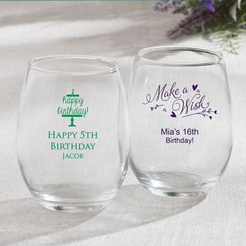 Personalised Engraved Purple Wine Glass Birthday Anniversary Gift