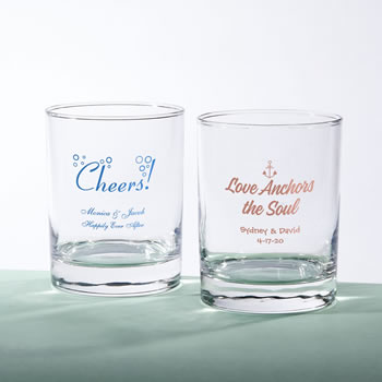 Screen printed Personalized Rocks Glass