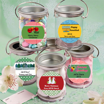Design Your Own Collection  Mini Paint Cans Favors - Holiday Themed