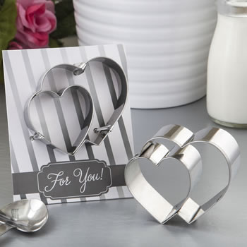Double heart design cookie cutter from fashioncraft