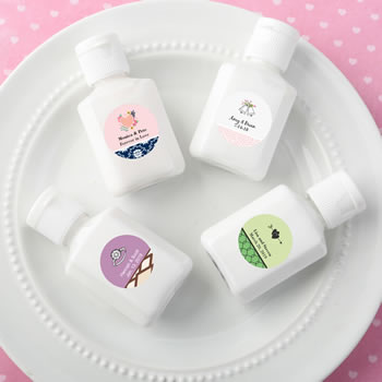 Personalized expressions - Adorable little clear bottle of white hand lotion  with a vanilla scent
