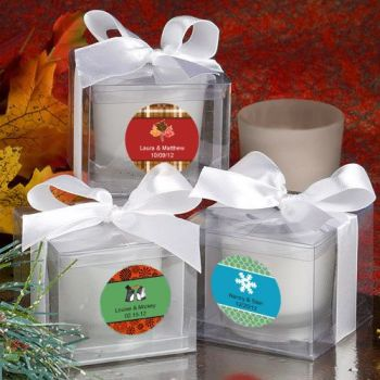Fashioncraft's Personalized Expressions  Collection Candle Favors - Winter