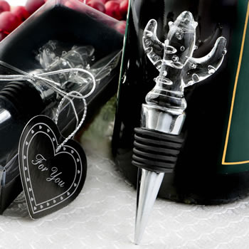 Choice Crystal cactus design bottle stopper
