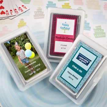 Personalized Playing Card Favor Birthday Design Nice Price Favors