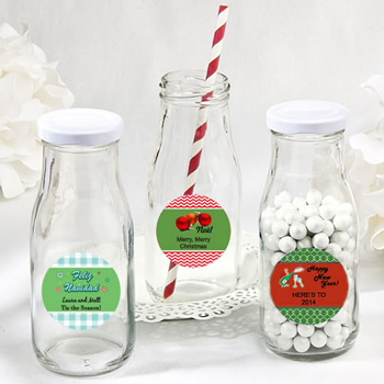 Holiday Design Your Own Collection vintage style milk bottles