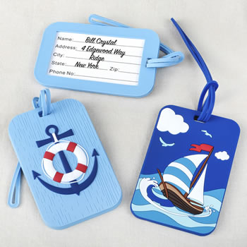 Nautical luggage tags - 2 assorted from gifts by fashioncraft