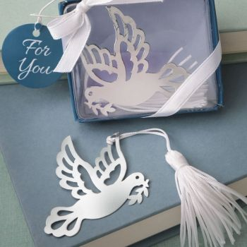 Book lovers collection dove of happiness bookmark