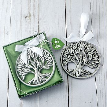 Tree of Life pewter finish hanging ornament