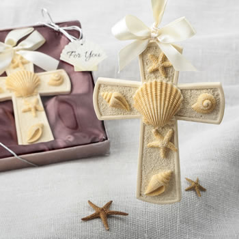 Sea themed Cross ornament from fashioncraft