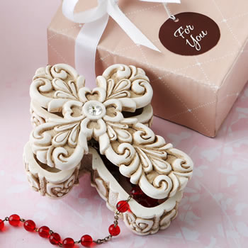 Baroque design vintage Cross themed trinket box