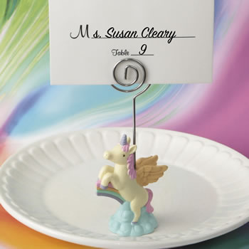 On trend Unicorn place card holder from fashioncraft