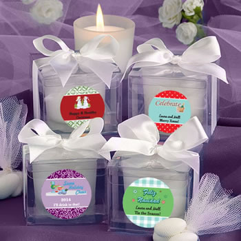 Fashioncraft's  Design Your Own Collection  Candle Favors - Holiday Themed