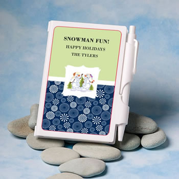 Personalized Notebook Favors - Holiday Themed