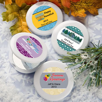 Design Your Own Collection  Mirror Compact Favors - Holiday Themed