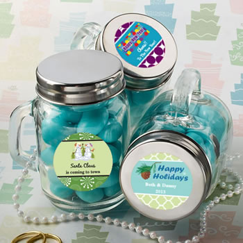 Design Your Own Collection  Glass Mason Jars - Holiday Themed