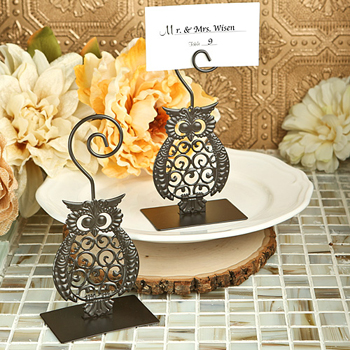 Owl design metal  place card/photo holders
