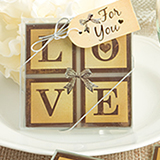 Vintage Window Love Themed Glass Coasters