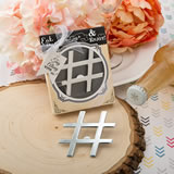 'Hashtag Love' collection chrome finish silver metal bottle opener