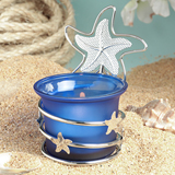 Starfish design beach themed candle favors