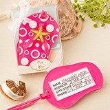Beach themed Flip Flop Luggage tag from Fashioncraft