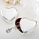 Engraved Heart Box - Silver