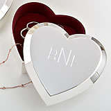 Engraved Heart Box - Beveled edge - Large Size