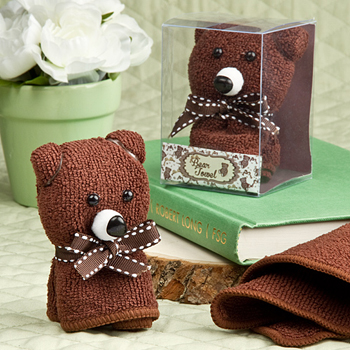 Adorable bear towel favors