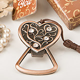 Antique copper heart bottle opener from fashioncraft