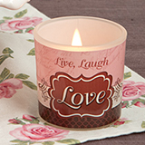 Live, Laugh and Love Vintage Candle Holder from Fashioncraft