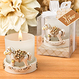 Vintage Rocking Horse votive candle holder