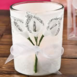 Silver Calla Lily design Votive candle holder