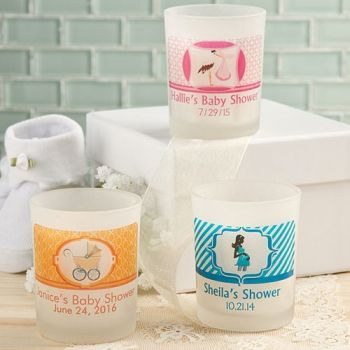 Clearly Custom  Frosted Glass Candle Holder with Personalized Sticker