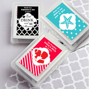 Playing Card  Favors with Personalized Case.  Simply Stylish