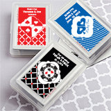 Playing Card Favors with Personalized Case. <em>Simply Stylish</em>