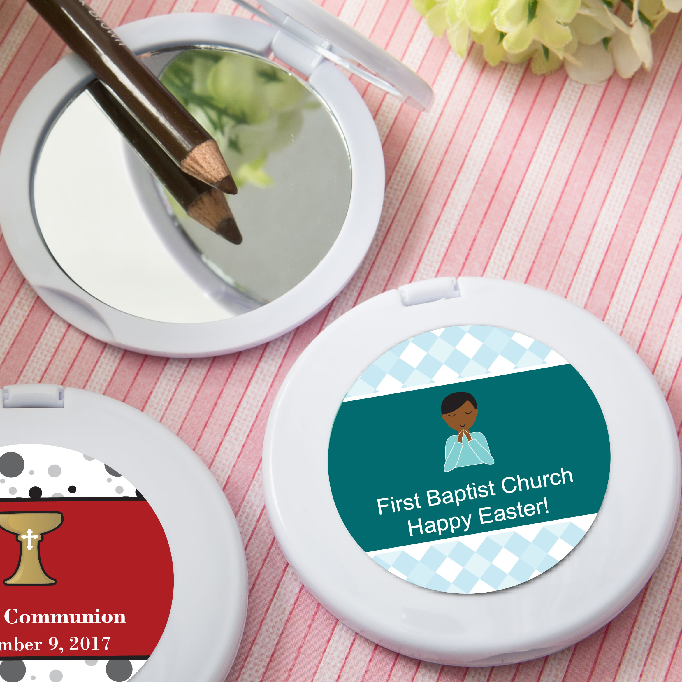Religious Personalized Expressions Collection Mirror Compact Favors