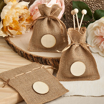 Burlap Favor Bags from the Perfectly Plain Collection