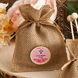 Babyshower Personalized Burlap Favor Bags from the Design Your Own Collection