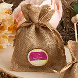 Persoanlized Burlap Favor Bags from the Design Your Own Collection