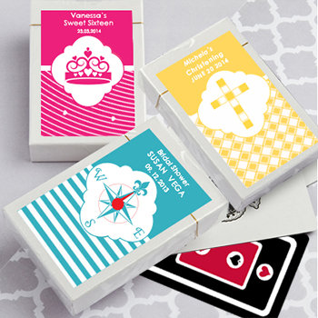 Playing Card Favors - with Personalized Box. Simply Stylish Collection.