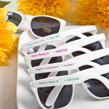 Anniversary, Religious, Sweet 16  Personalized Sunglasses from Fashioncraft