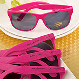 Hot Pink Personalized Sunglasses from Fashioncraft