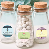 Personalized expressions collection Vintage Glass milk bottle with round cork top