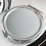 Perfectly plain collection Silver Metal Mirror