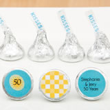 Personalized Chocolate Hershey's® Kisses® - (3 assorted designs - Price Per Piece)