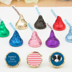 Personalized Hershey's® Kisses® w/Colored Wrappers