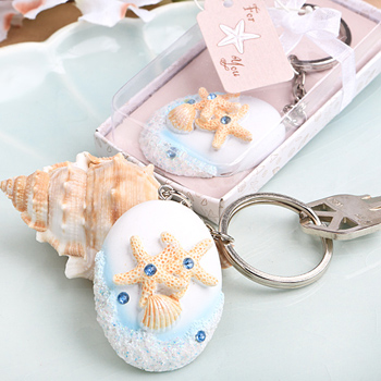 Beach Themed Key Chain Favors