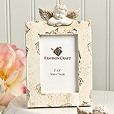 Stunning Ivory Cherub Themed Place Card / Photo Frame