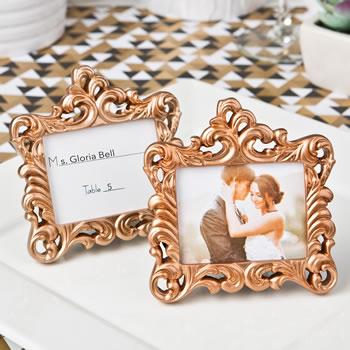 rose gold baroque style frame favor - Mini Gold Frames
