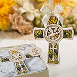 Religious Holy Natures Harvest Themed Cross Ornament from Fashioncraft